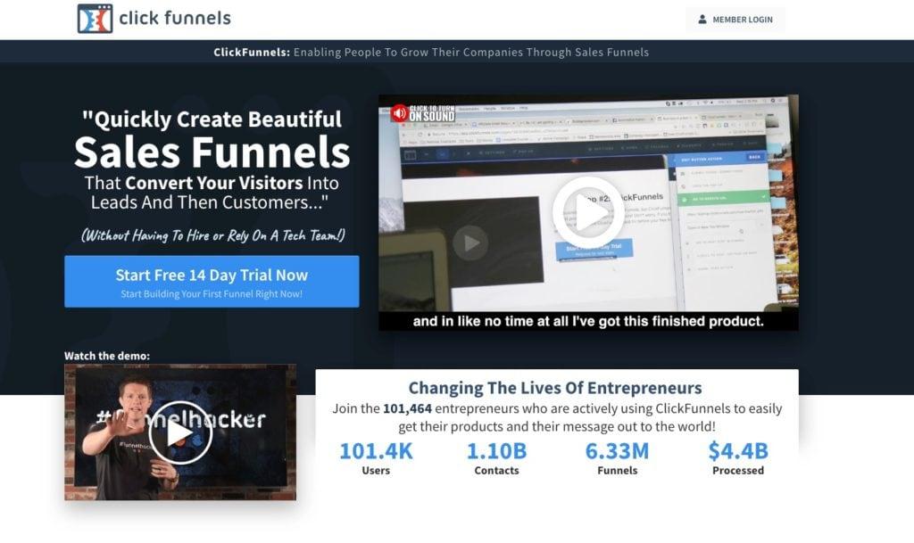 Best Sales Funnel Software ClickFunnels