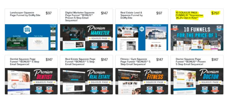 Build and Sell Your Share funnels