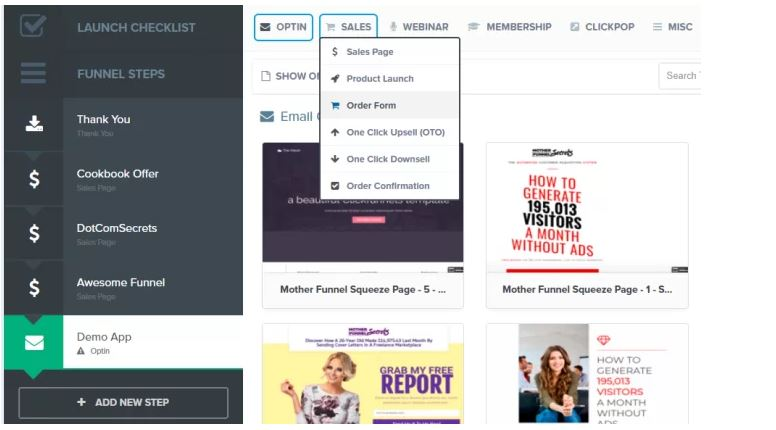 Create a shopping cart in clickfunnels
